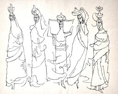 """Tadeusz Kulisiewicz, """"Kobiety idące"""""""