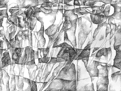 Pejzaż z figurami II